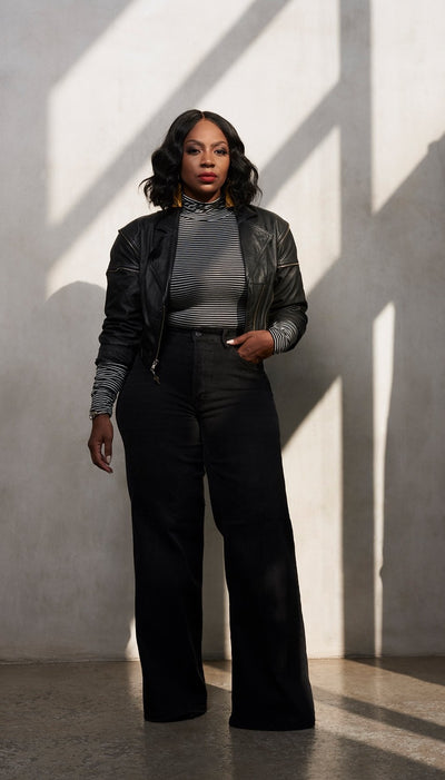All The Way | Wide leg Denim Trousers
