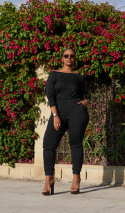 Easy Peasy | Off the Shoulder Jumpsuit