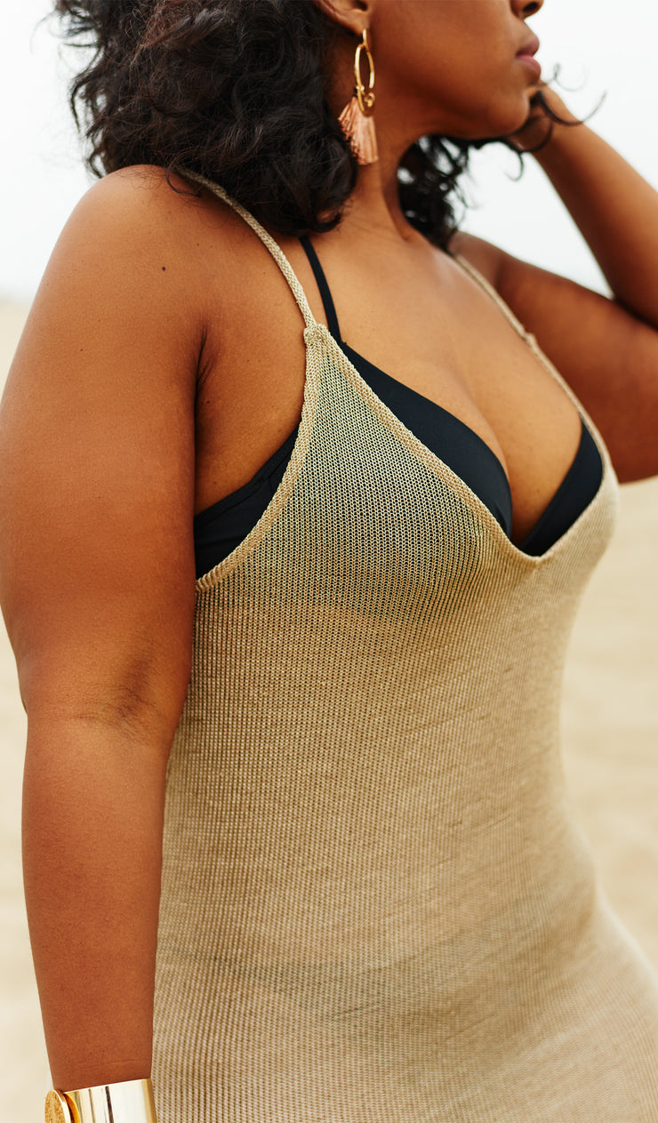 Goddess | Gold Bathing suit Cover-up