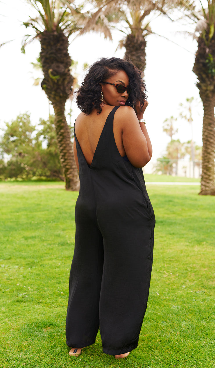 Sleek | Black Wide Leg Jumpsuit