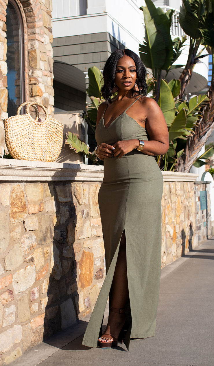 Out Of The Office | Double Split Dress