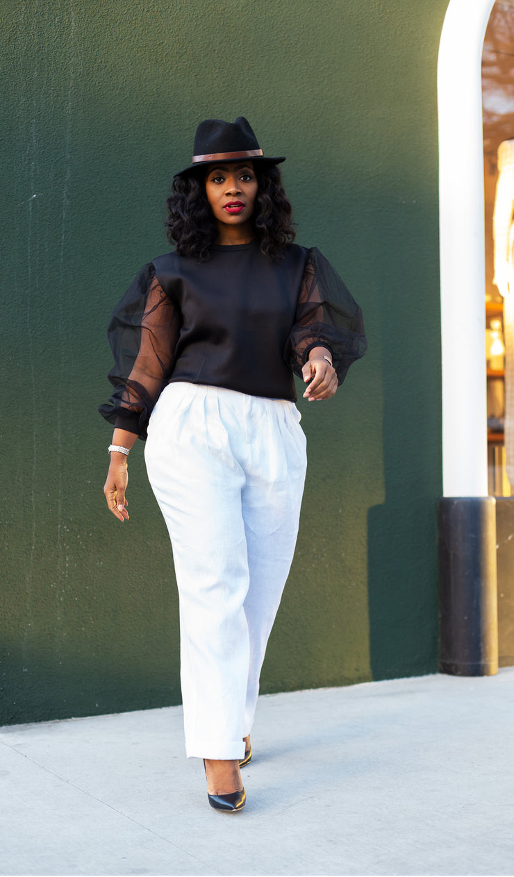 Pretty Women | High Waist Linen Trousers