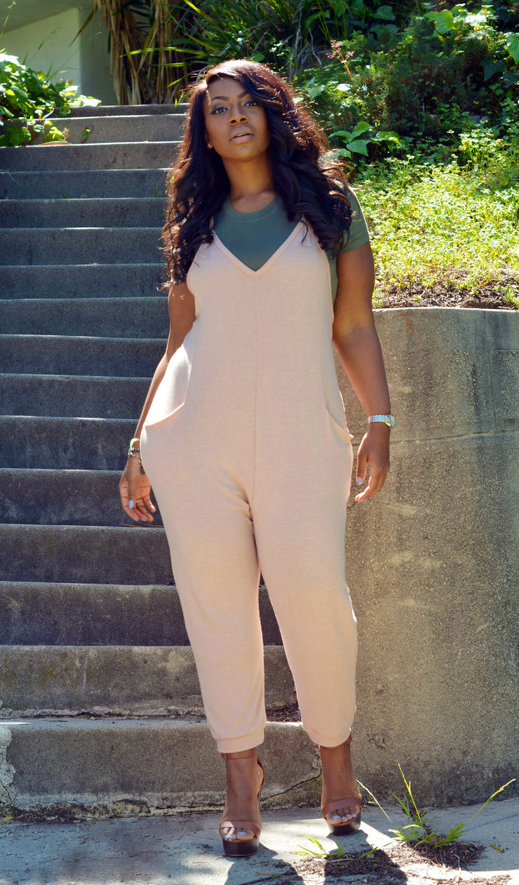 Girl Next Door | V-Neck Jumpsuit
