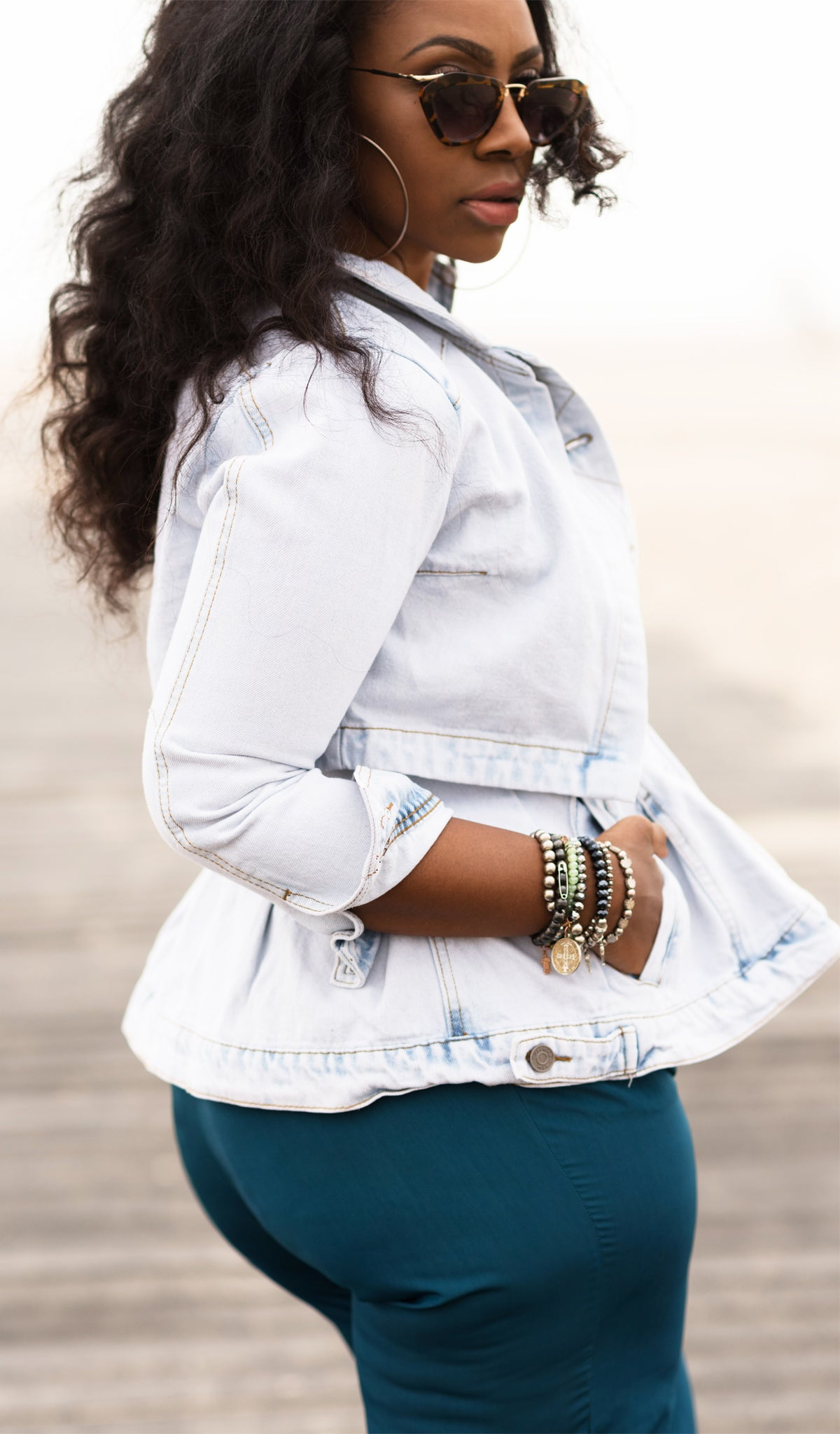 Cape Denim Jacket