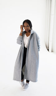 Hooded R and R | Oversized Grey Hoodie