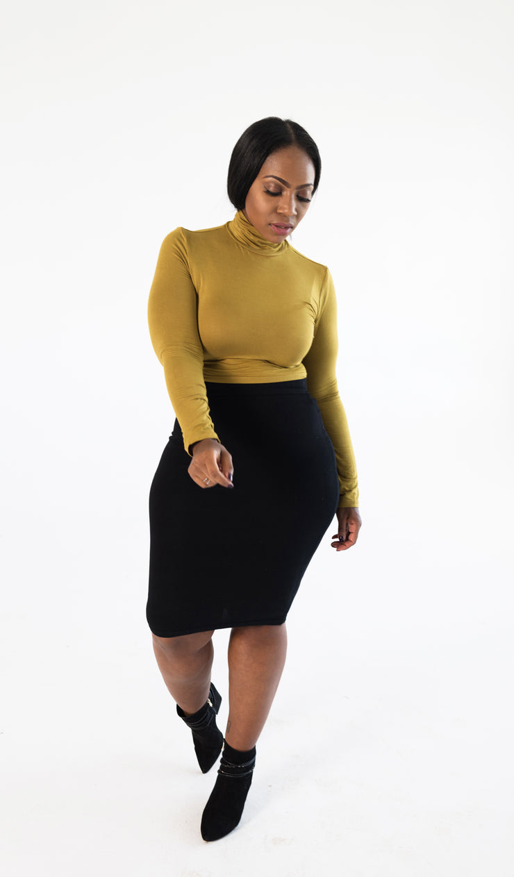 She's Classic | Black pencil skirt