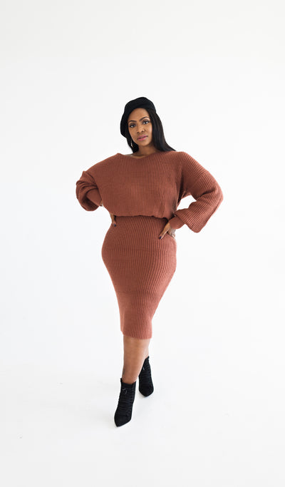 Spice | Sweater Skirt Set