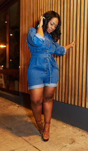 Chill chick | Denim Romper