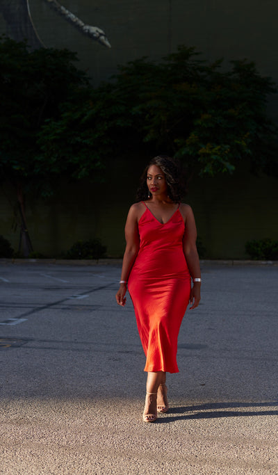 Hot Tamale | Red Slip Dress