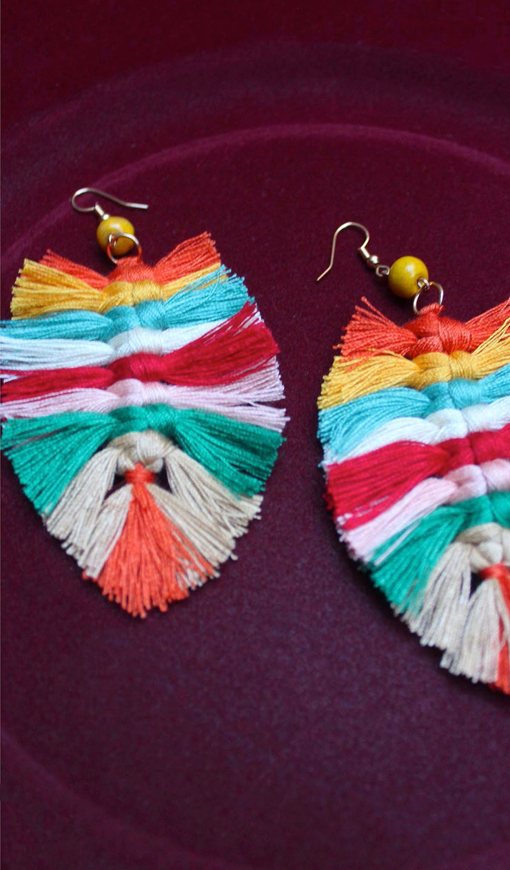 Native | Multi Color Tassel Earrings
