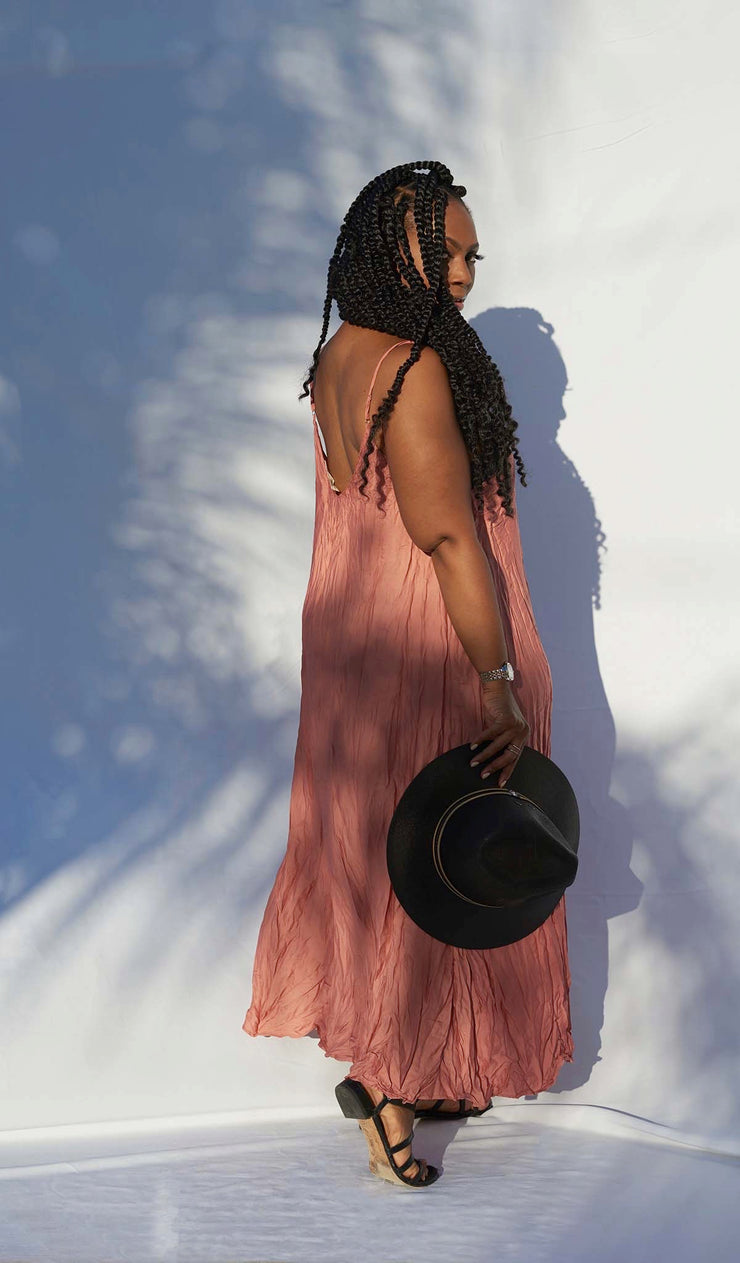 Tasseled |  Crinkle Maxi Dress