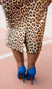 Untamed | Leopard Print Pencil Skirt