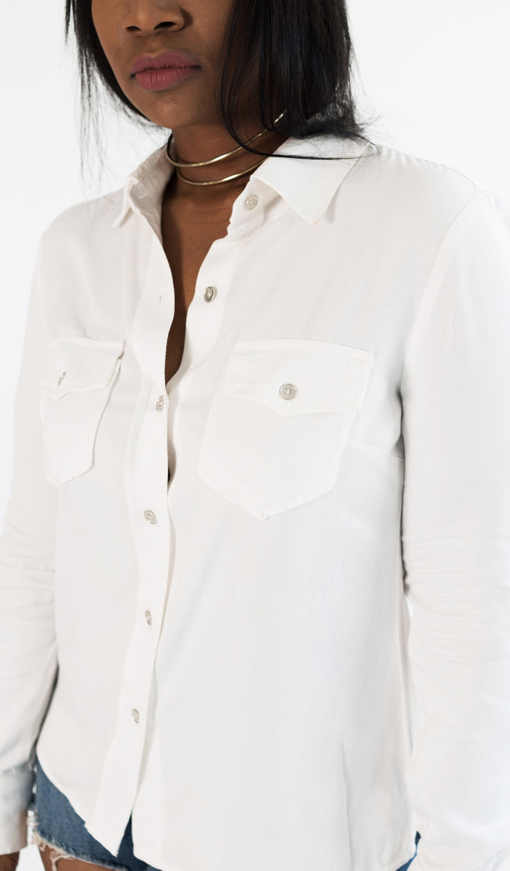 White Collar Street Chic | Button up Shirt