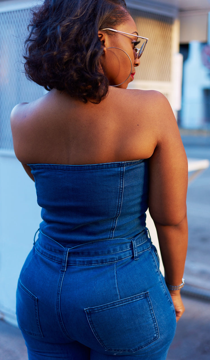 Denim Dipped | Tube Top Jumper