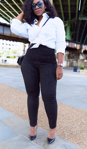 Bombshell | Suede High Waist Leggings
