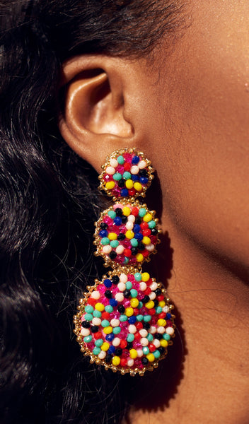 Fruity Tooty | Multi-color beaded earrings
