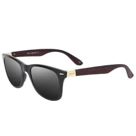 Sunglasses men fashion wood in square style