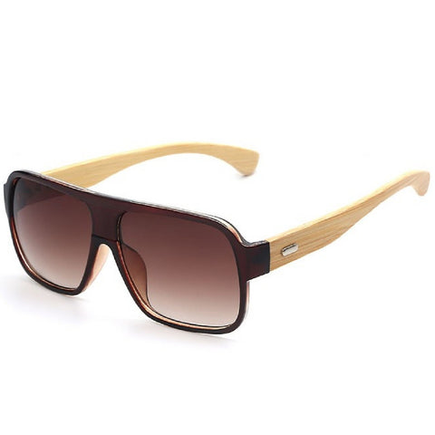 Sunglasses men retro vintage with arms in bamboo