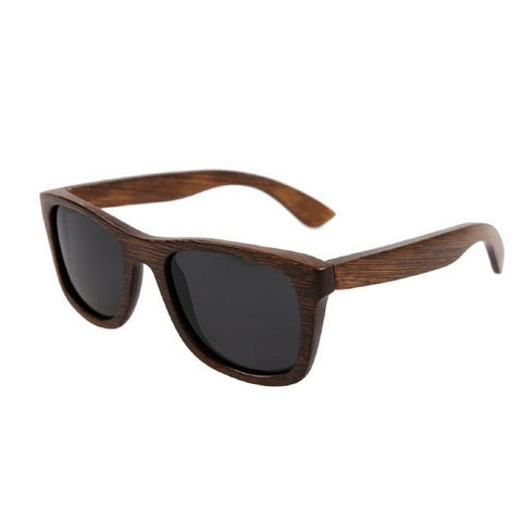 Sunglasses new design round form with dark wooden frame