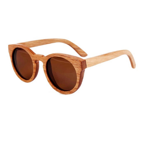Sunglasses classical round frame with brown lenses