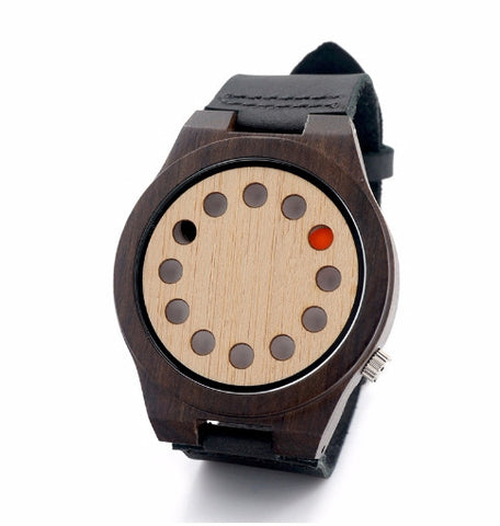 Bamboo watch 12 holes model Mizo-goi