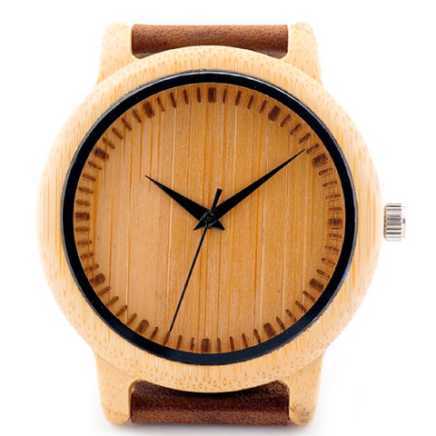 Bamboo watch model Daishaku-shigi