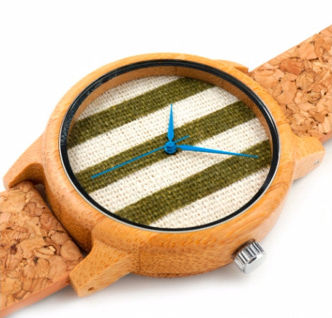 Bamboo watch model Harimomo-chushaku