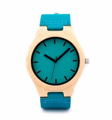 Bamboo watch model Ao-ashi-shigi
