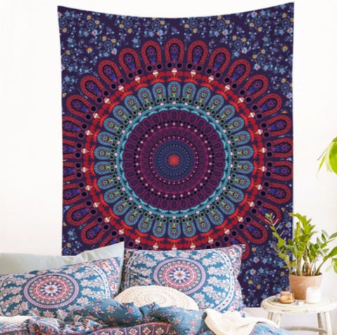 Colorfoul mandala yogi Tapestry model Arancar