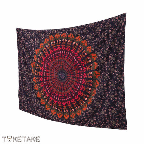 Colorfoul mandala yogi Tapestry model Sunshine