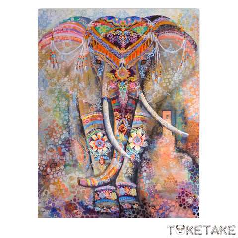 Nepalese Tapestry Elephant King Large (80*60 in)