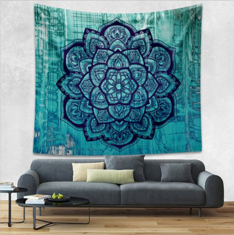 Nepalese Tapestry Deep Blue Mandala Large (80*60 in)