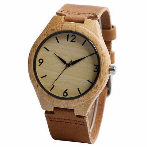 Bamboo watch model Hajiro