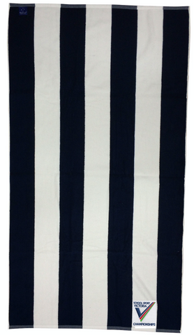 SSV Championship Navy & White Striped Beach Towel