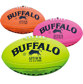 Buffalo Fluro Synthetic Footballs - size 4