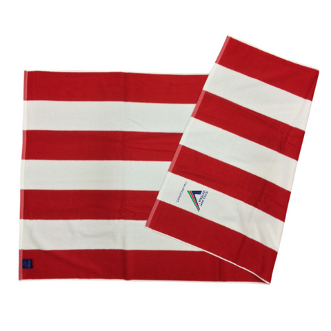 SSV Championships Striped Towel - Red & White