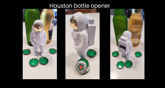 Houston astronaut bottle opener