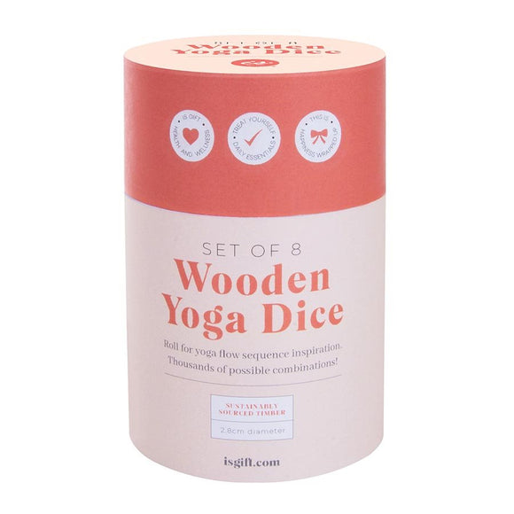YOGA wooden dice set by IS GIFT