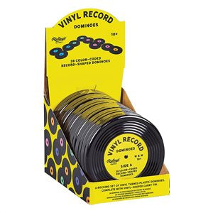Vinyl record shaped dominoes by Ridley's Games