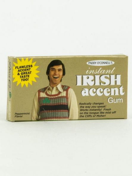 BlueQ Chewing gum x Irish accent