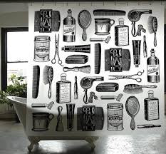 Barber shop shower curtain by Izola