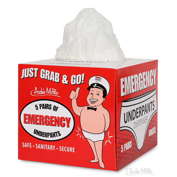 Emergency underpants by Archie McPhee