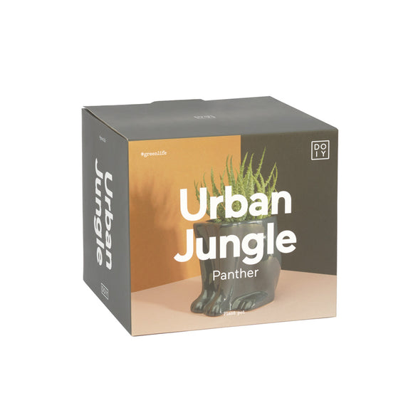 Urban jungle black Panther pot by DOIY