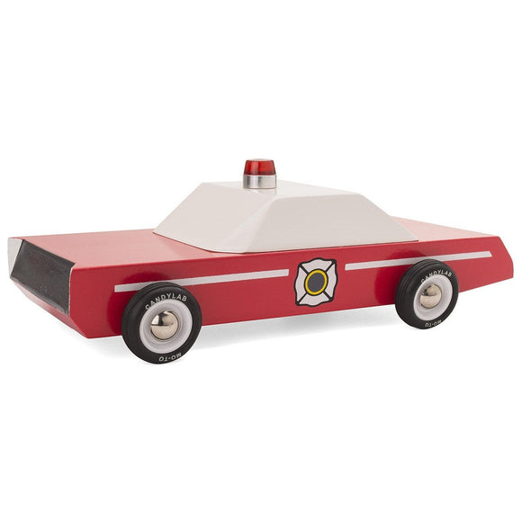 CANDYLAB FIRECHIEF wooden toy car