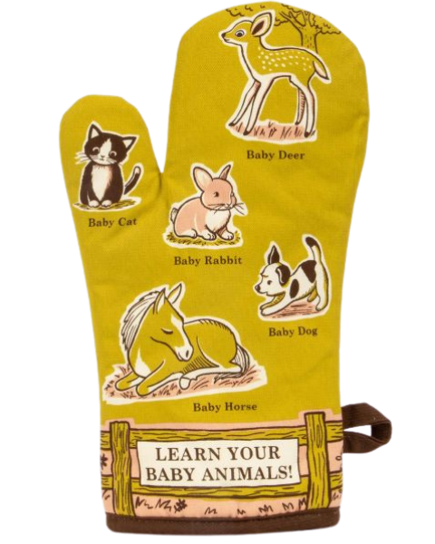 Baby animals oven mitt by BlueQ