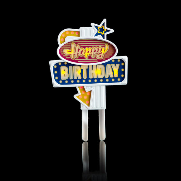 Flashing cake topper -Happy birthday