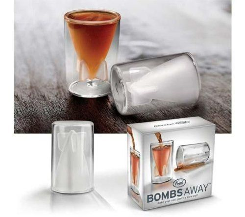BOMBS AWAY Shot glasses by FRED