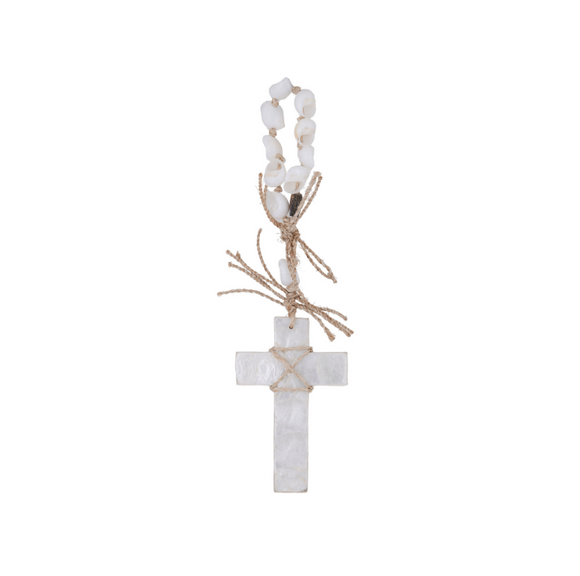 Capiz wall deco cross by amalfi