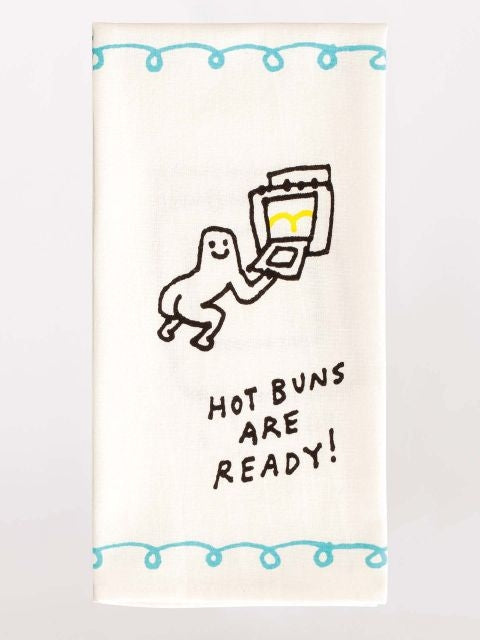 Teatowel-Hot buns are ready