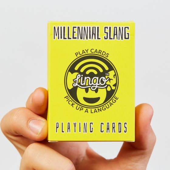 LINGO Millennial slang playing cards